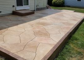 Random Stone Earth Tone With Solid Border